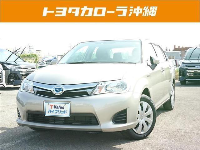 沖縄の中古車 トヨタ カローラアクシオ 車両価格 112万円 リ済別 2013(平成25)年 4.0万km ベージュ