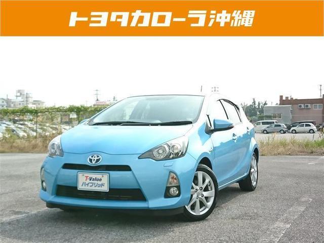 沖縄の中古車 トヨタ アクア 車両価格 79万円 リ済別 2012(平成24)年 6.2万km ブルー