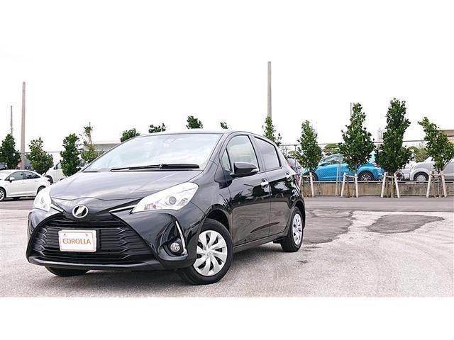 沖縄の中古車 トヨタ ヴィッツ 車両価格 137万円 リ済別 2019年 0.8万km ブラック
