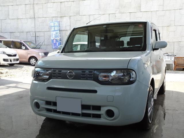 沖縄の中古車 日産 キューブ 車両価格 39万円 リ済込 2013(平成25)年 9.1万km パール
