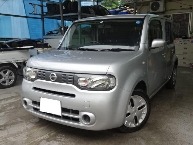 沖縄県の中古車ならキューブ 15X 保証2年付き アイドルストップ 社外ナビ 本土仕入れ