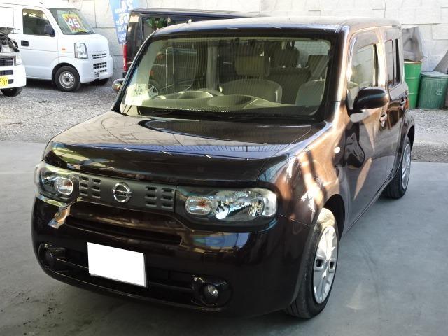 沖縄の中古車 日産 キューブ 車両価格 55万円 リ済込 2013(平成25)年 8.0万km ブラウン