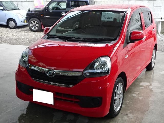 沖縄の中古車 ダイハツ ミライース 車両価格 37万円 リ済込 2015(平成27)年 8.5万km レッド