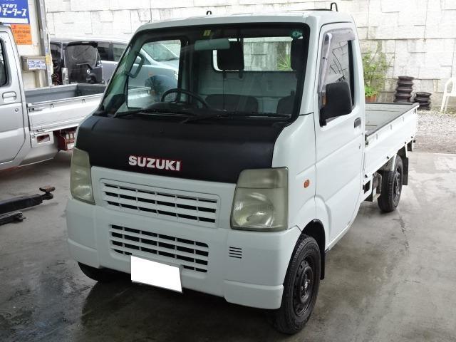 沖縄の中古車 スズキ キャリイトラック 車両価格 19万円 リ済込 2002(平成14)年 20.5万km ホワイト