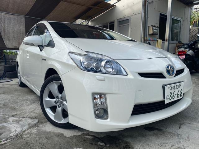 沖縄の中古車 トヨタ プリウス 車両価格 78万円 リ済込 2009(平成21)年 9.6万km ホワイト