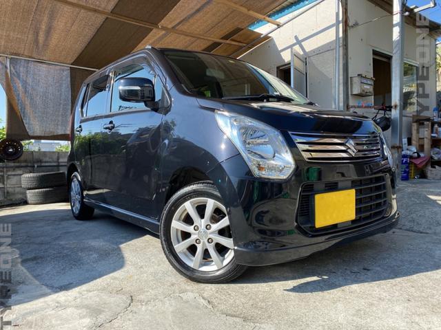 沖縄の中古車 スズキ ワゴンR 車両価格 37万円 リ済込 2013(平成25)年 8.3万km ブラック