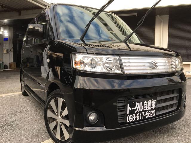 沖縄の中古車 スズキ ワゴンR 車両価格 34万円 リ済込 平成20年 10.8万km ブラックM
