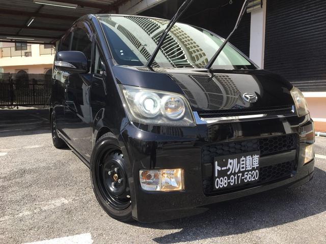 沖縄の中古車 ダイハツ ムーヴ 車両価格 24万円 リ済込 2008(平成20)年 9.7万km ブラックII