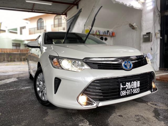 沖縄県宜野湾市の中古車ならカムリ ハイブリッド 2年保証 後期モデル 本土無事故