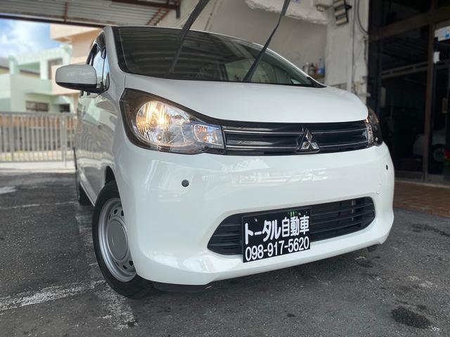 沖縄の中古車 三菱 eKワゴン 車両価格 39万円 リ済込 2015(平成27)年 9.1万km ホワイト
