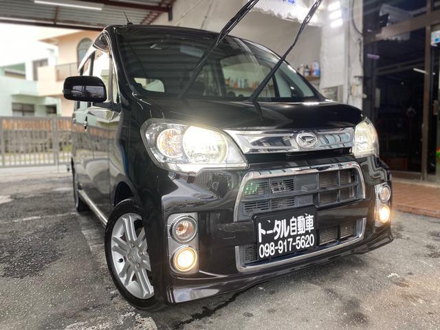 沖縄の中古車 ダイハツ タントエグゼ 車両価格 56万円 リ済込 2012(平成24)年 11.6万km ブラックM