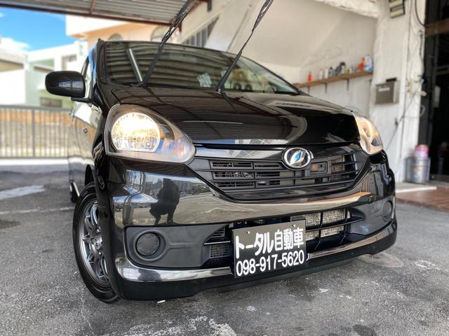 沖縄の中古車 ダイハツ ミライース 車両価格 28万円 リ済込 2014(平成26)年 14.3万km ブラックM