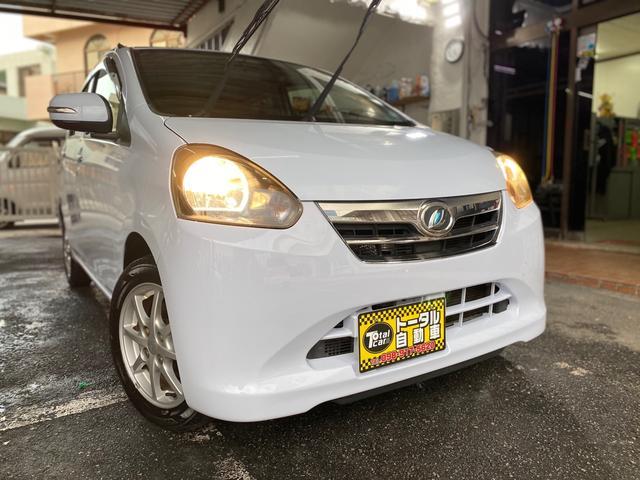 沖縄の中古車 ダイハツ ミライース 車両価格 24万円 リ済込 2012(平成24)年 11.6万km ライトブルー