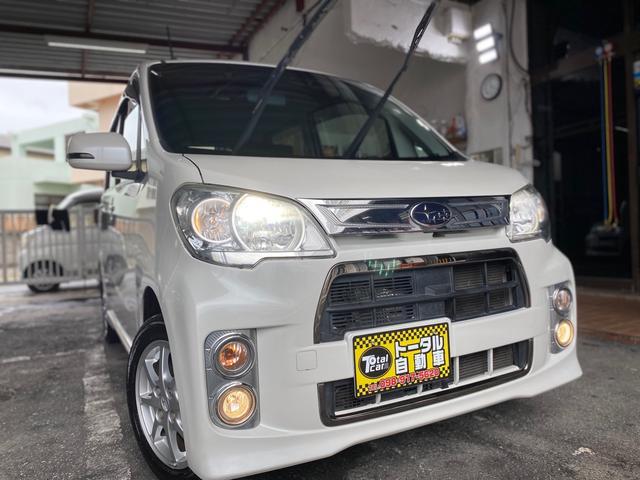沖縄の中古車 スバル ルクラカスタム 車両価格 47万円 リ済込 2012(平成24)年 11.8万km パールホワイト