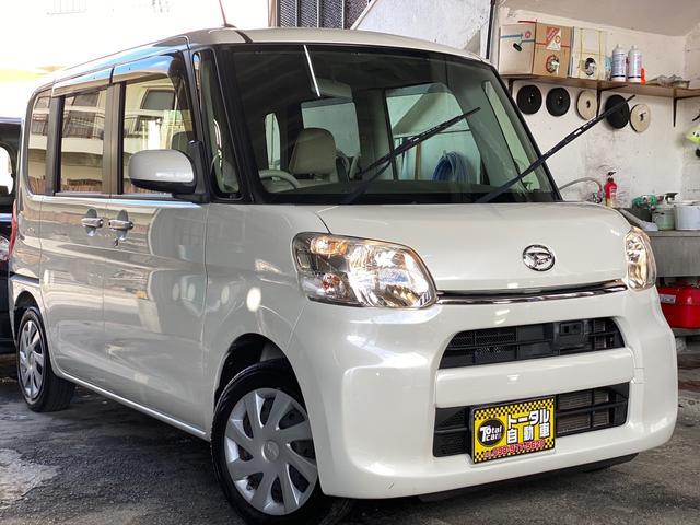 沖縄県の中古車ならタント X SA パワースライドドア フルセグTV Bluetooth  スマートキー バックカメラ プッシュスタート パールホワイト 本土中古車