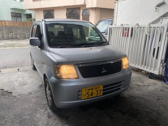 沖縄の中古車 三菱 eKワゴン 車両価格 6万円 リ済込 2006(平成18)年 7.8万km シルバーM