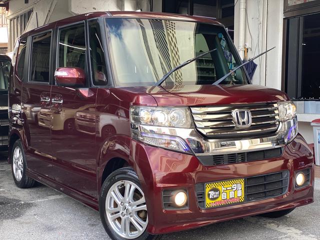 沖縄県の中古車ならN-BOXカスタム G・Lパッケージ 左側パワースライド スマートキー プッシュスタート 本土無事故車両