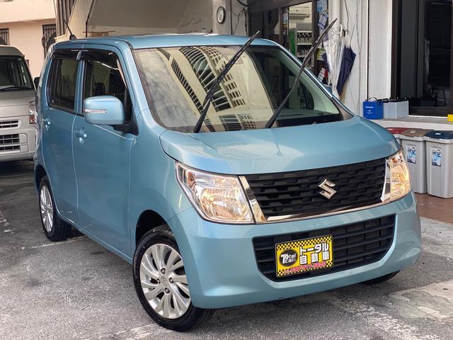 沖縄の中古車 スズキ ワゴンR 車両価格 53万円 リ済込 2016(平成28)年 9.2万km ライトブルーM