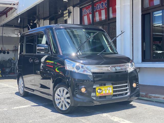 沖縄県の中古車ならスペーシアカスタム XS スマートキー 左側電動スライド プッシュスタート オートエアコン Bluetooth ナビ 本土無事故車両
