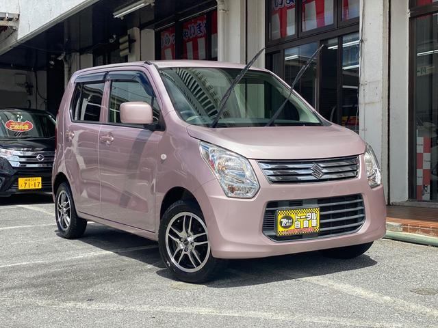 沖縄県の中古車ならワゴンR FX 電動格納ミラー キーレス 純正オーディオ 社外アルミ 本土無事故車両
