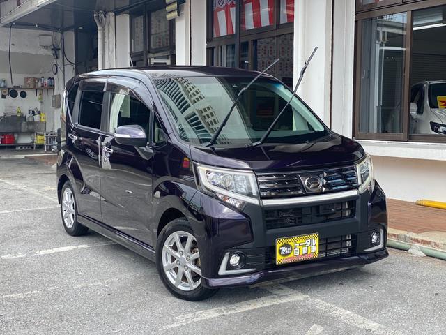 沖縄県宜野湾市の中古車ならムーヴ カスタム X ハイパーSAII 純正ナビ・TV  バックカメラ ETC Bluetooth ハーフレザーシート オートエアコン LEDヘッドライト 本土中古車