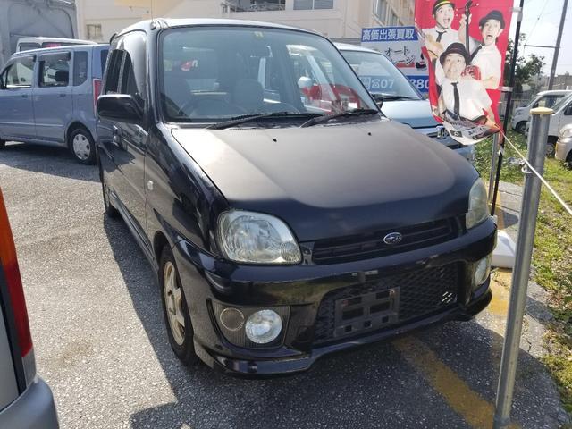 沖縄の中古車 スバル プレオ 車両価格 6万円 リ済込 平成18年 9.6万km ブラック