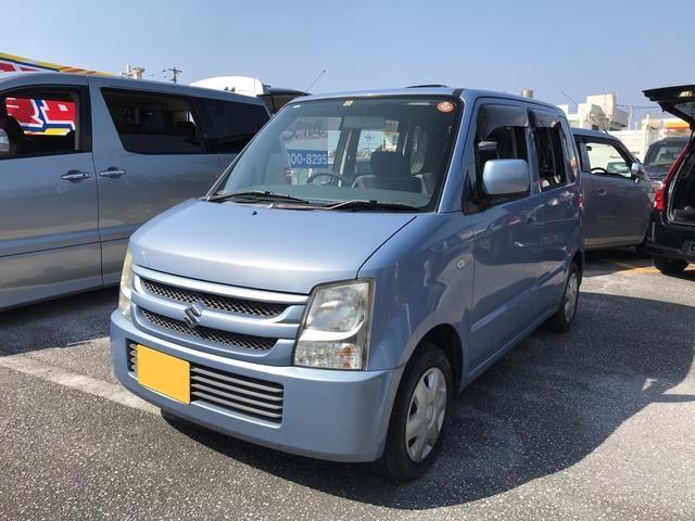 沖縄の中古車 スズキ ワゴンR 車両価格 13万円 リ済込 平成18年 8.6万km ライトブルー