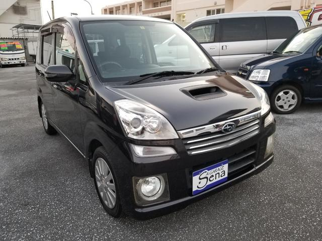 沖縄の中古車 スバル ステラ 車両価格 17万円 リ済込 2006(平成18)年 12.9万km ブラックM