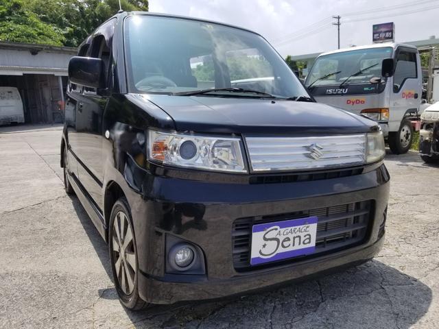 沖縄の中古車 スズキ ワゴンRスティングレー 車両価格 22万円 リ済込 2008(平成20)年 7.1万km ブラックM