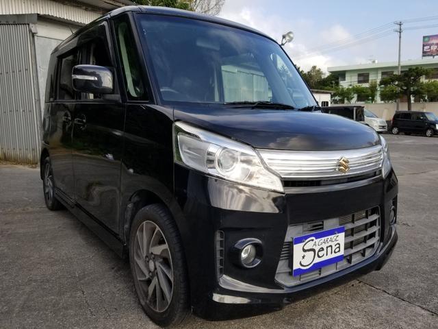 沖縄の中古車 スズキ スペーシアカスタム 車両価格 64万円 リ済込 2013(平成25)年 11.4万km ブラックM