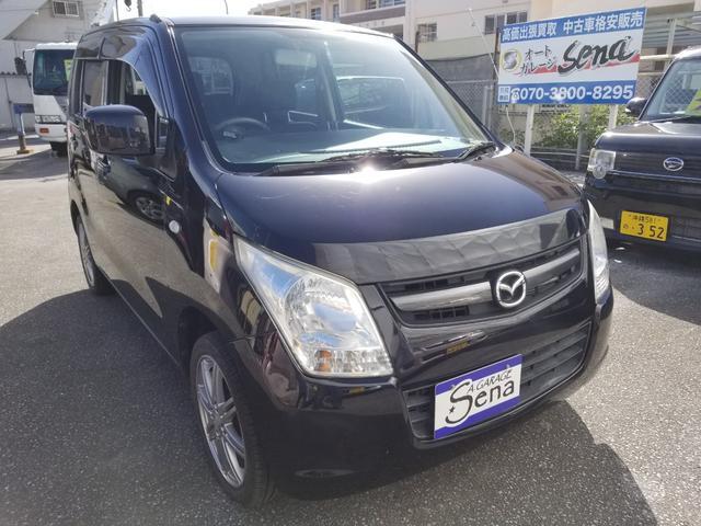 沖縄の中古車 マツダ AZワゴン 車両価格 24万円 リ済込 2011(平成23)年 11.6万km ブラックM