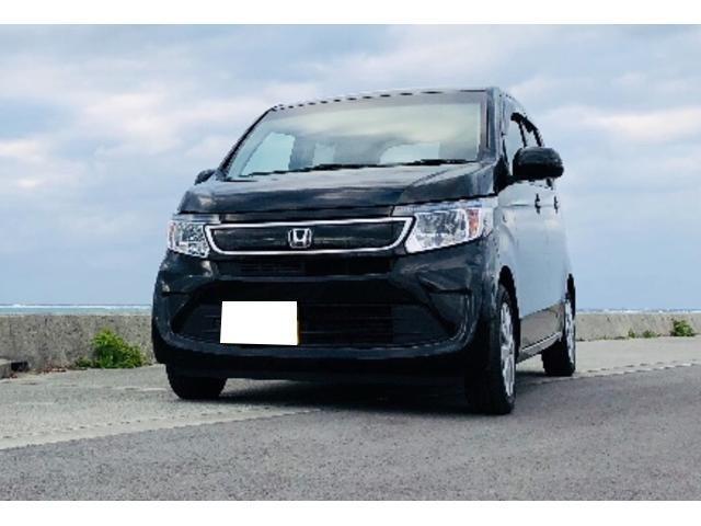 沖縄の中古車 ホンダ N-WGN 車両価格 110万円 リ済別 2016(平成28)年 2.5万km ブラック