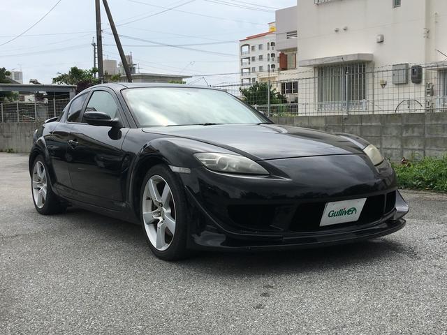 沖縄の中古車 マツダ RX-8 車両価格 69万円 リ済別 2003(平成15)年 8.3万km ブラック
