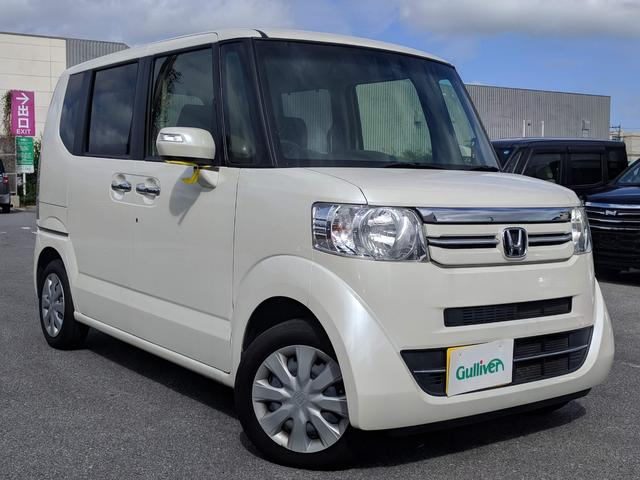沖縄の中古車 ホンダ N-BOX 車両価格 108万円 リ済別 2015(平成27)年 6.1万km プレミアムホワイトパールIIII