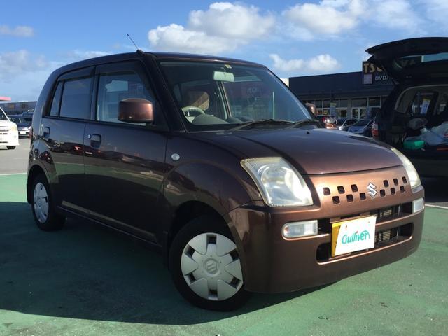 沖縄の中古車 スズキ アルト 車両価格 18万円 リ済別 2008(平成20)年 9.8万km ブラウン