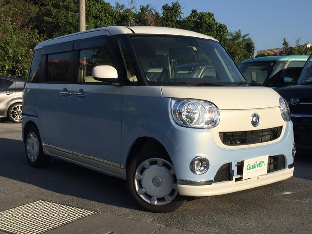 沖縄県の中古車ならムーヴキャンバス Xリミテッドメイクアップ SAIII 内地仕入 純正ナビ フルセグ 両パワ Bluethooth 全方位カメラ