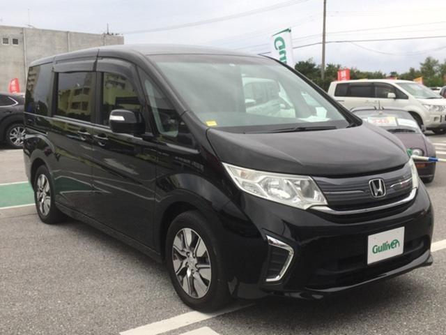 沖縄県の中古車ならステップワゴン G・EX 純正フリップダウンモニター パワースライドドア 8インチインターナビ バックカメラ フルセグTV Bluetooth