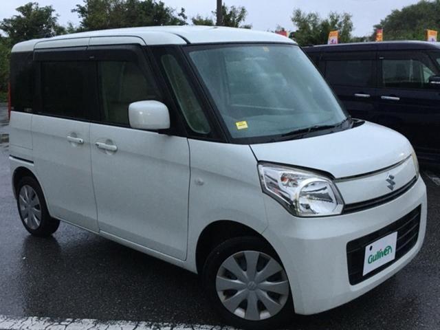 沖縄の中古車 スズキ スペーシア 車両価格 64万円 リ済別 2013(平成25)年 8.5万km パールホワイト