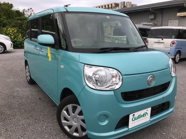 沖縄の中古車 ダイハツ ムーヴキャンバス 車両価格 99万円 リ済別 2016(平成28)年 3.7万km Lグリーン