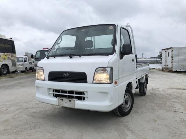 沖縄の中古車 スバル サンバートラック 車両価格 35万円 リ済込 2003(平成15)年 7.1万km ホワイト