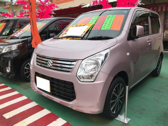 沖縄の中古車 スズキ ワゴンR 車両価格 59万円 リ済別 平成25年 5.9万km ピンクM