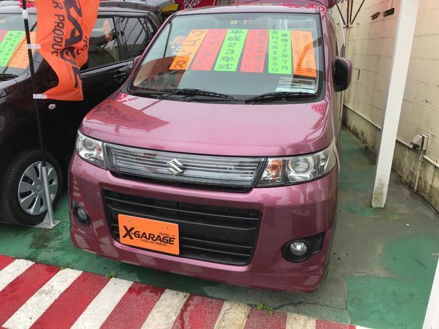 沖縄の中古車 スズキ ワゴンRスティングレー 車両価格 49万円 リ済別 2011(平成23)年 9.3万km ピンク