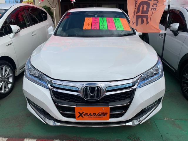 沖縄県の中古車ならアコードハイブリッド EX 電動リアサンシェイド 電動シート CMBS ACC