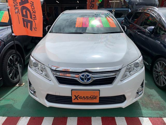 沖縄県うるま市の中古車ならカムリ ハイブリッド Gパッケージ パワーシート 純正アルミホイール