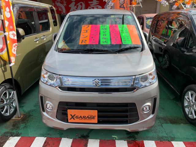 沖縄県の中古車ならワゴンRスティングレー X レーダーブレーキサポート Sエネチャージ LEDグリル