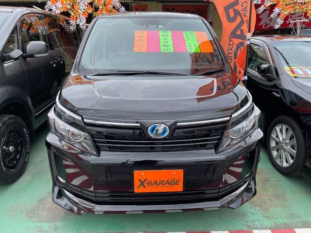 沖縄県の中古車ならヴォクシー ハイブリッドV トヨタセーフティセンス 純正9インチナビ