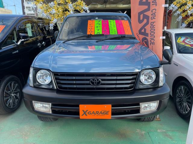 沖縄の中古車 トヨタ ランドクルーザープラド 車両価格 149万円 リ済別 2001(平成13)年 22.4万km スモーキーブルー