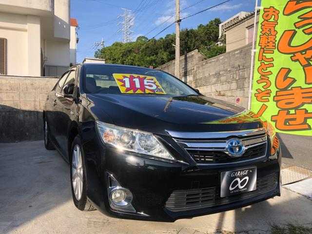 沖縄の中古車 トヨタ カムリ 車両価格 115万円 リ済込 2012(平成24)年 9.6万km ブラックII