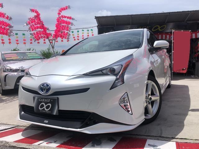沖縄県の中古車ならプリウス S TRDフルエアロ デイライト付き LEDランプ TV・ナビ・バックカメラ 本土仕入・無事故車 24ヵ月保証付き