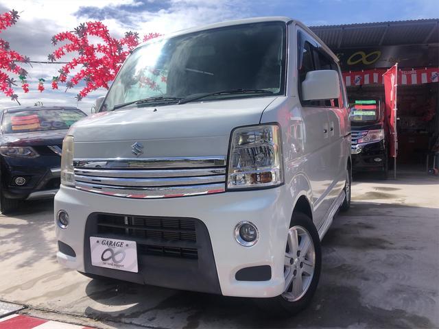 沖縄県の中古車ならエブリイワゴン PZターボスペシャル 新入庫しました 両側パワースライドドア オートステップ ナビ付